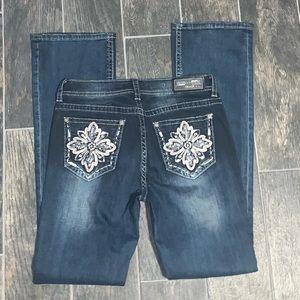 Grace in LA Rhinestoned Embellished Jeans